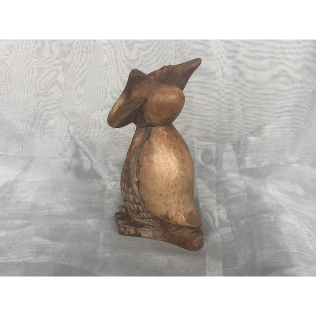 1960s Carved Wood Owl Statue For Sale In New York - Image 6 of 12