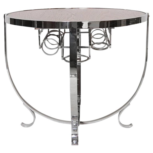 Machine Age Art Deco Streamline Cruise Liner or Pullman Car Cocktail Table For Sale