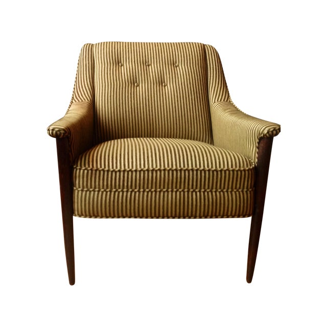 Cashmere & Wool Striped Chairs - Pair For Sale