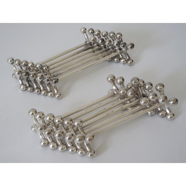 Vintage Christofle Knife Rests Silver Plated - Set of 12, Married Set of 6 Christofle and 6 Similar For Sale - Image 10 of 13
