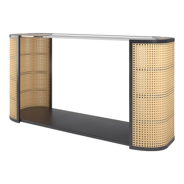 Lola Console Table - Black Iron For Sale