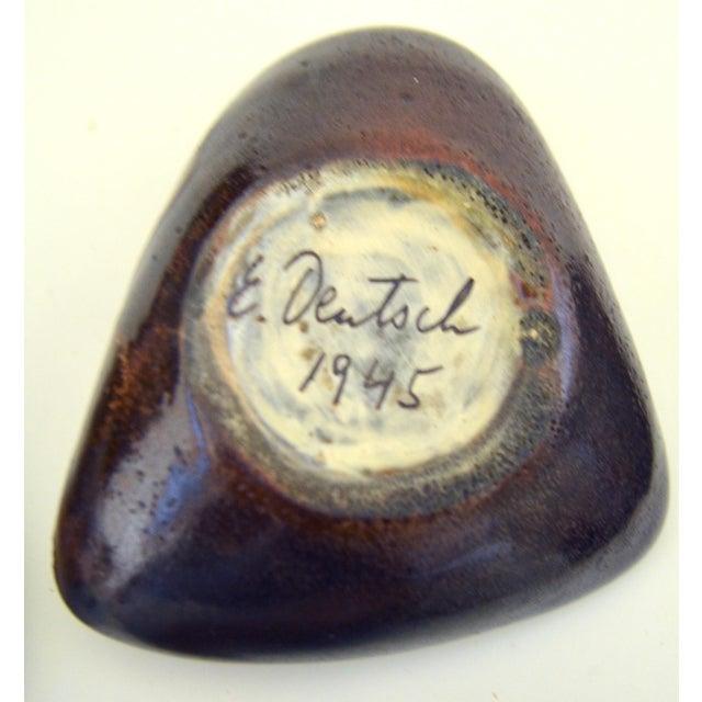 Black Mid Century Eugene Deutch Chicago Modernist Six Ceramic Bowls For Sale - Image 8 of 10