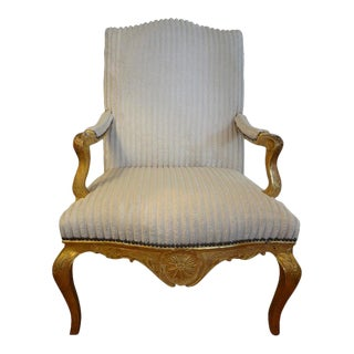 18th Century French Régence Giltwood Chair For Sale