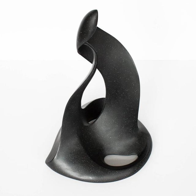 Abstract Black Abstract Flame Modernist Sculpture For Sale - Image 3 of 11