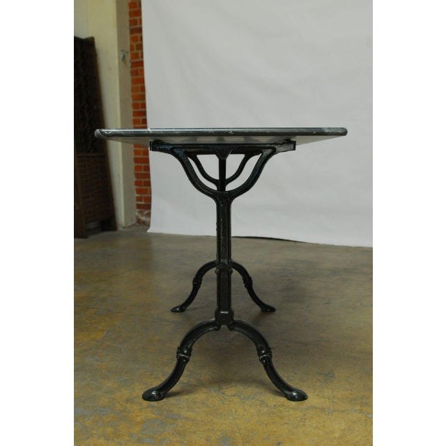 French Marble Bistro Table - Image 5 of 7