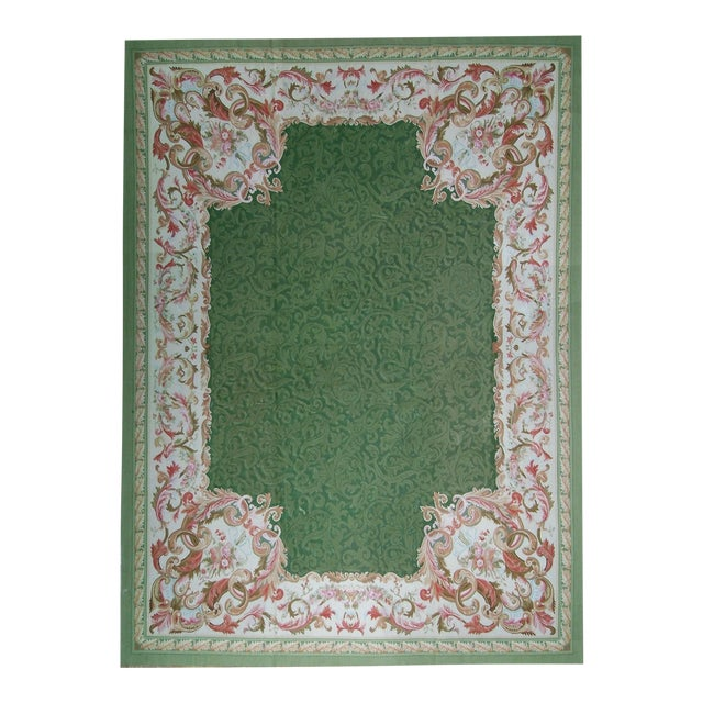 """Pasargad Aubusson Hand Woven Wool Rug - 10'10"""" X 16' 0"""" - Image 1 of 3"""