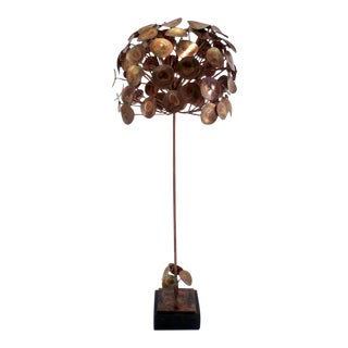 C. 1970 Brass Raindrops Table Top Tree Sculpture For Sale