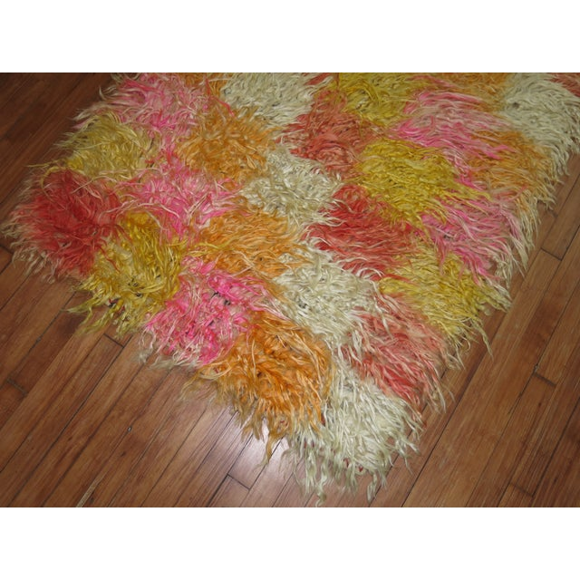 Contemporary Tulu Shag Runner, 3'4'' X 9'2'' For Sale - Image 3 of 7
