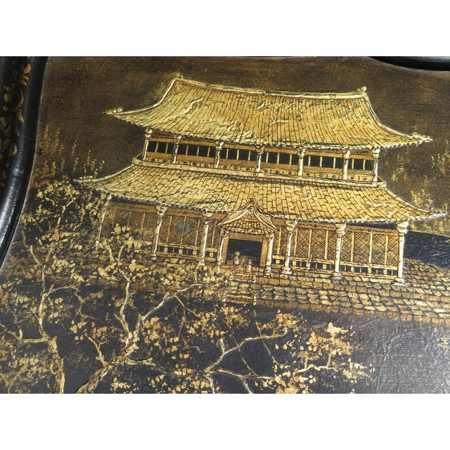 2010s Vintage Chinoiserie Decorated Large Coffee Table For Sale - Image 5 of 8