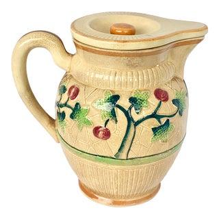 Vintage Ceramic Pitcher With Lid For Sale