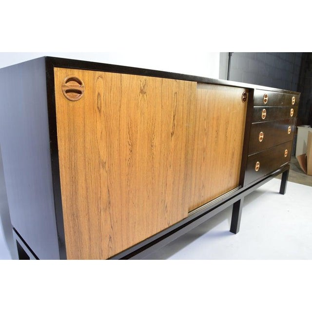 Harvey Probber Rosewood and Mahogany Credenza For Sale - Image 11 of 12
