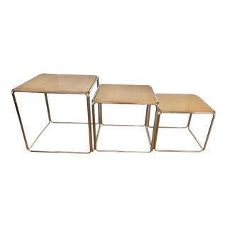 Bauhaus Style Modern Nesting Tables- Set of 3 For Sale