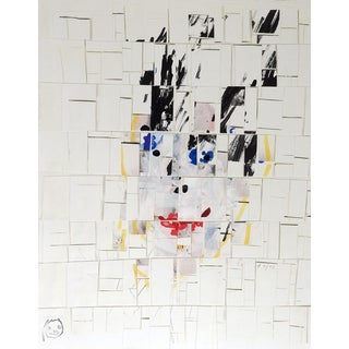 Mixed Media Abstract Figure Collage by George Turner For Sale