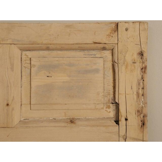 Country Antique Irish Scrubbed Pine Interior Door For Sale - Image 3 of 10