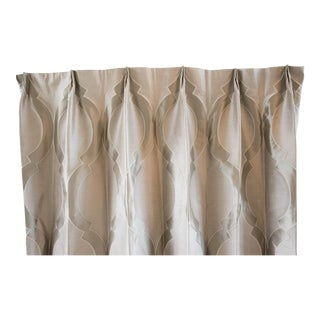 Drapery Panels in Sahco/Donghia Embroidered Silk - Set of 3 For Sale