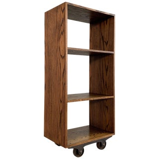 Custom Industrial Rolling Open Bookcase Shelf Unit For Sale
