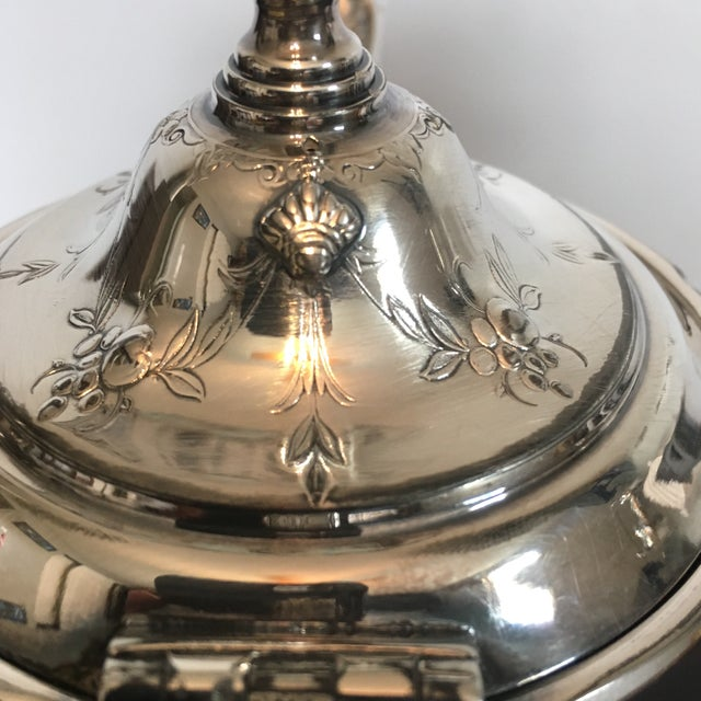 1930s Traditional Wilcox Hand Chased Silver Plated Coffee Pot For Sale In Cincinnati - Image 6 of 13