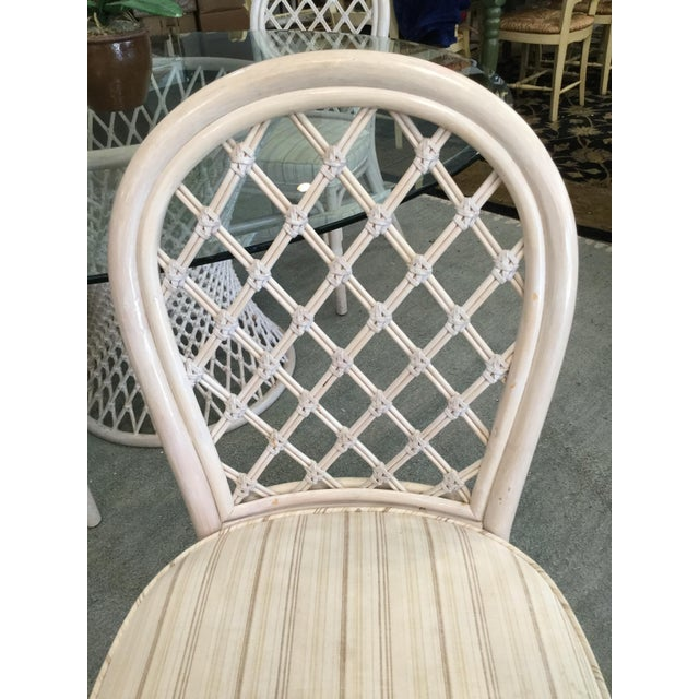 Vintage Bamboo Round Dining Table and Four Chairs For Sale In West Palm - Image 6 of 11
