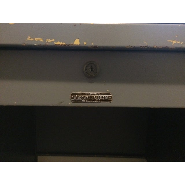 Vintage Blue McDowell & Craig Tanker Desk - Image 5 of 6