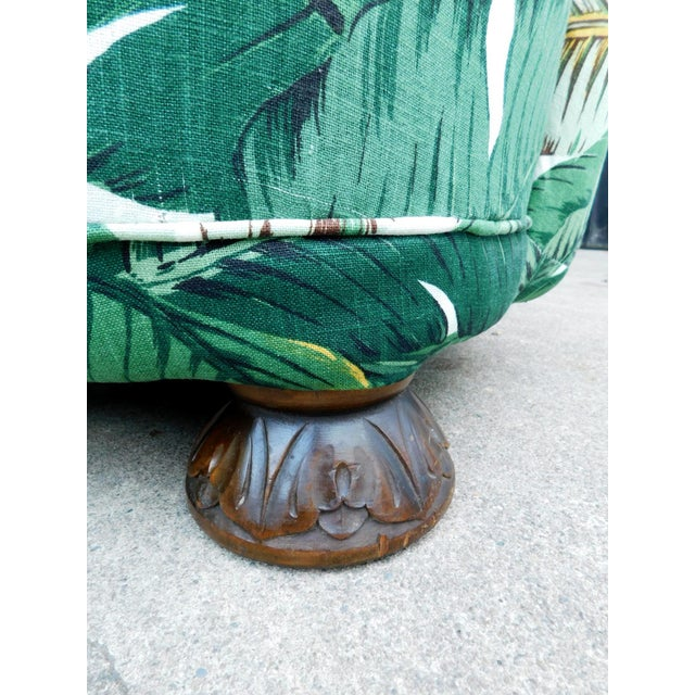 Green Palmier Curved Art Deco Sofa For Sale - Image 8 of 11