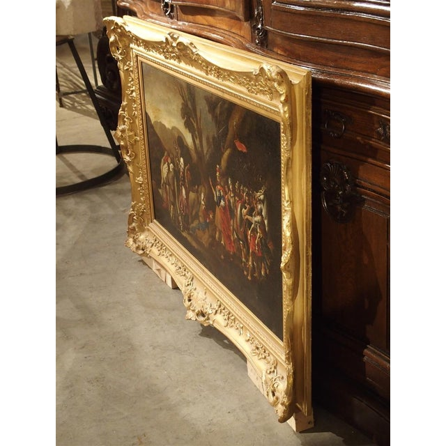 Italian 18th Century Italian Oil Painting on Canvas in Giltwood Frame For Sale - Image 3 of 11