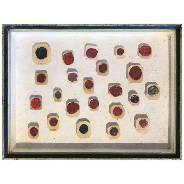 Framed 18th Century French Wax Seals For Sale In Boston - Image 6 of 6
