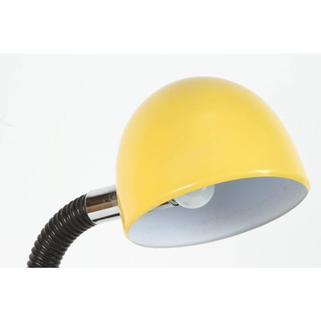 Modernist Enameled Yellow Desk Lamp For Sale - Image 4 of 9