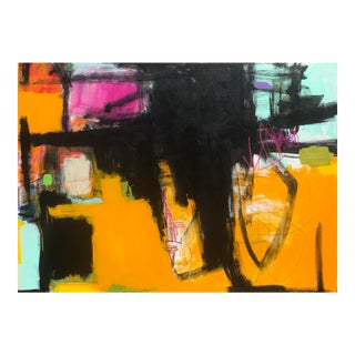 "Contemporary Abstract ""Rerouted"" Painting by Sarah Trundle For Sale"
