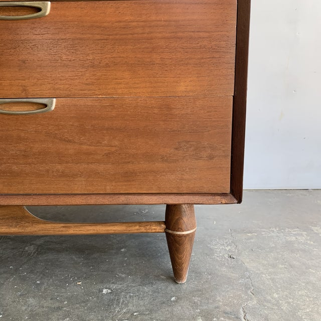 Mid Century Walnut Dresser by Broyhill For Sale - Image 11 of 13