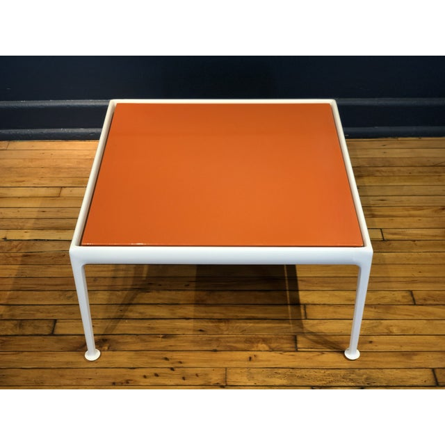 Richard Schultz for Knoll Orange and White Enamel Top Side/Coffee Table For Sale In Milwaukee - Image 6 of 12