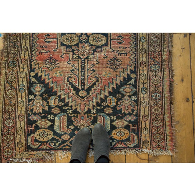 """Antique Tattered Malayer Square Rug - 3'5"""" x 4'3"""" - Image 3 of 10"""