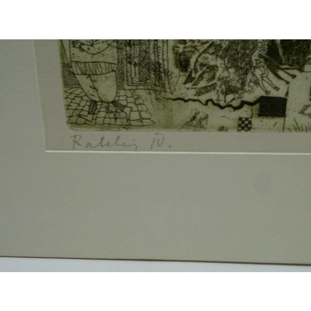 Circa 1980 Limited Edition Ralelain Iv Signed Print For Sale - Image 4 of 6