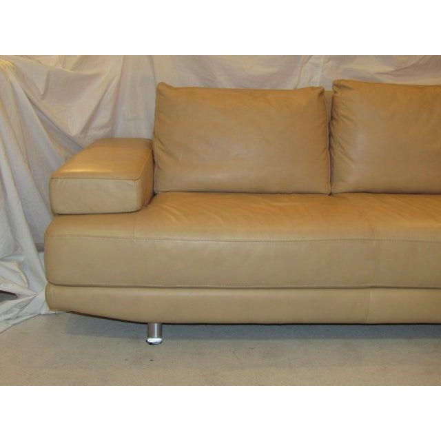 Contemporary Nicoletti Italian Leather Sofa For Sale - Image 3 of 7