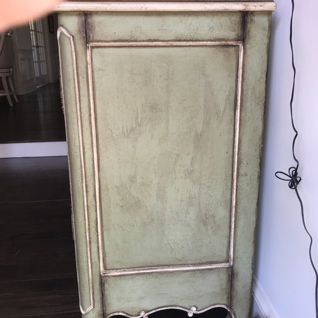Traditional Light Green With Cream and Gold Sideboard For Sale - Image 4 of 12