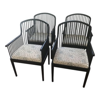 "1980s Vintage Davis Allen for Stendig ""Andover"" Chairs- Set of 4 For Sale"