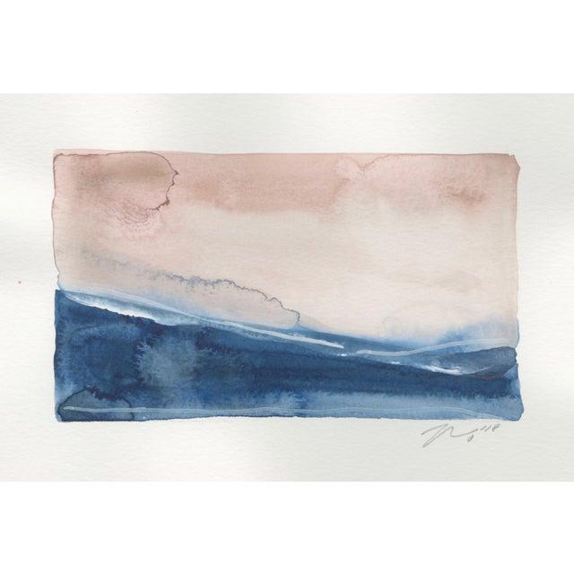 "Modern ""Sea Land Sky II"" Watercolor Giclee Print For Sale - Image 3 of 3"