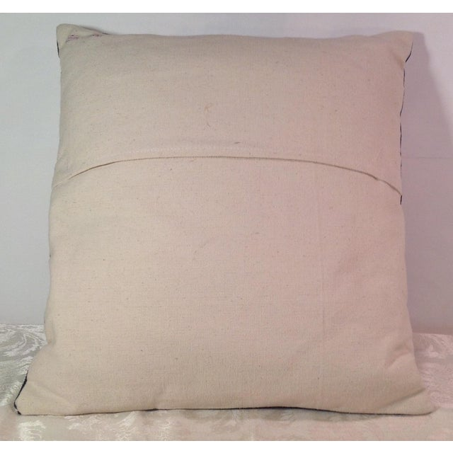 Silk Embroidered Ari Pillows - A Pair - Image 6 of 11