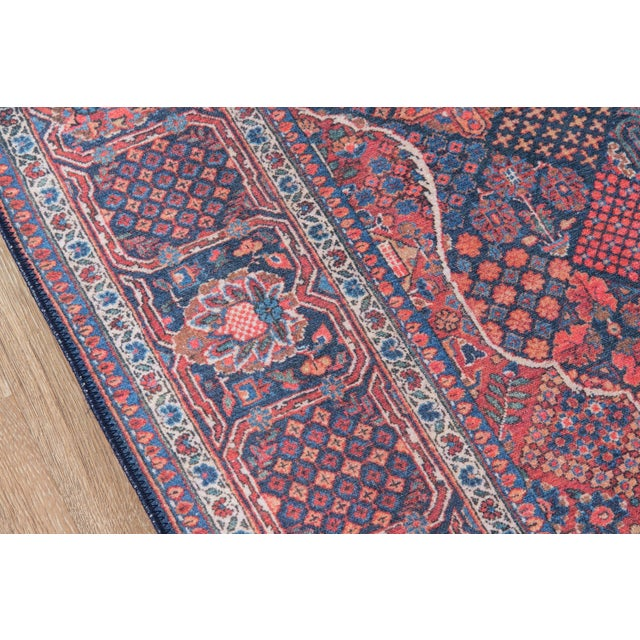 "Traditional Traditional Momeni Afshar Polyester Navy Area Rug - 7'6"" X 9'6"" For Sale - Image 3 of 6"