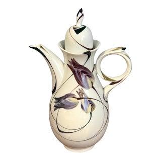 Modern Meissen French Tulip Motif Coffee Pot For Sale