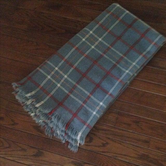 Vintage Plaid Wool Blend Blanket - Image 3 of 11