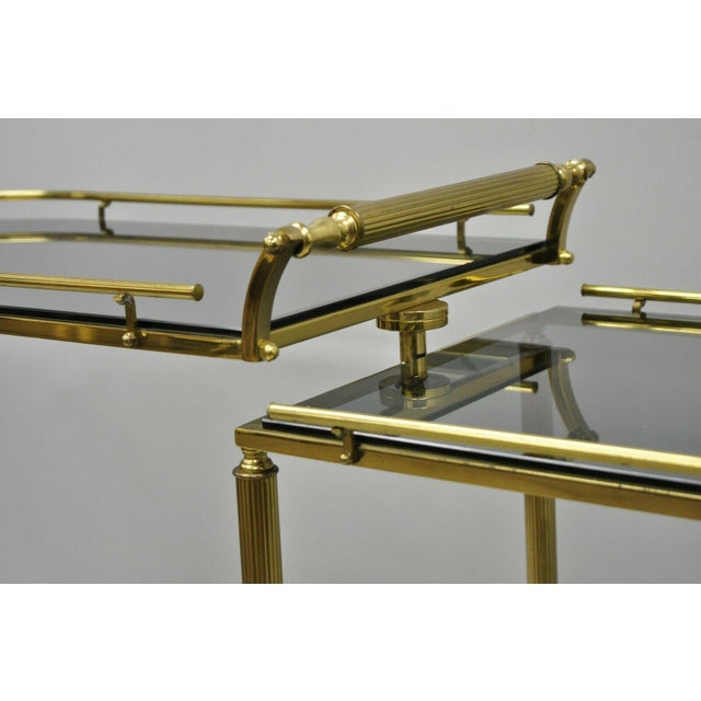 20th Century Hollywood Regency Swivel Rolling Bar Cart For Sale In Philadelphia - Image 6 of 13
