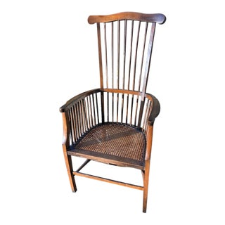 Antique Primitive French Arm Chair For Sale