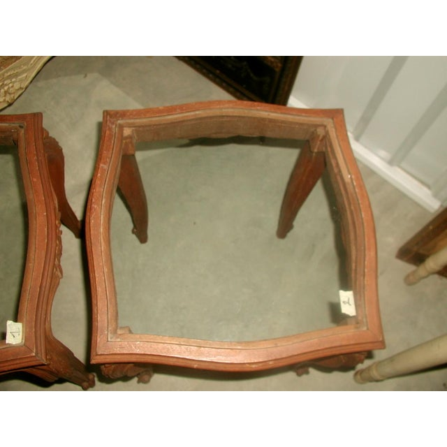 French 19th C. Walnut & Glass Tables - Image 7 of 7