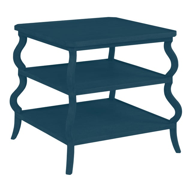 Traditional Abbott Tiered Side Table, Gentleman's Gray For Sale - Image 3 of 3
