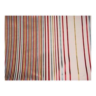 Brunschwig Fils Spectrum Silk Linen Red Blue Upholstery Fabric - 30 3/8 Yards For Sale