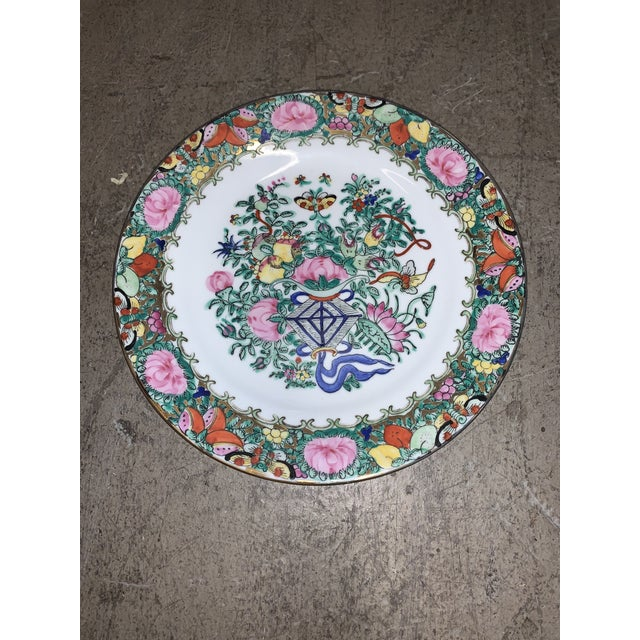 "Famille Rose Lotus Kite 10"" Plate For Sale In West Palm - Image 6 of 6"