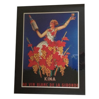 1937 French Kina Lillet Wine Print