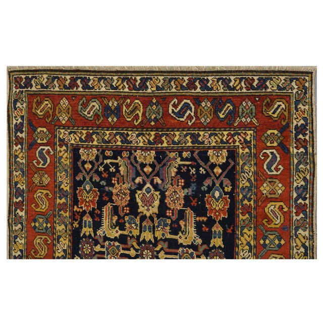 """Islamic Traditional Caucasian Wool Rug - 3'3"""" x 4'8"""" For Sale - Image 3 of 5"""
