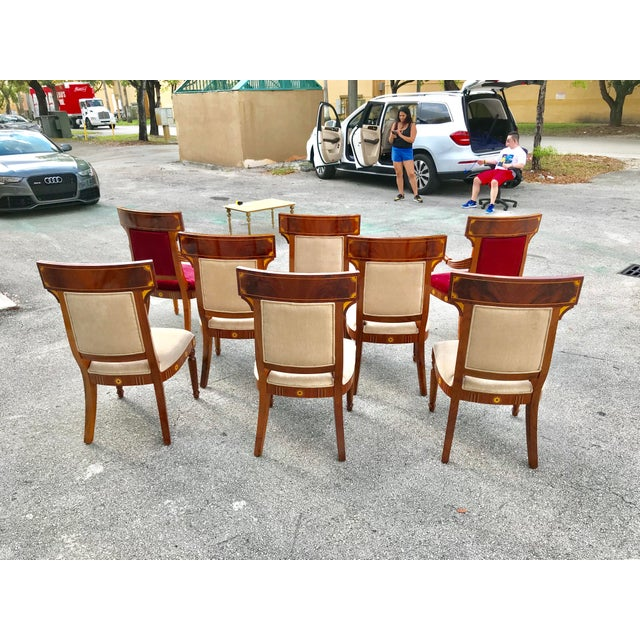 1910s 1910s Vintage Biedermeier Style Flame Mahogany Dining Chairs- Set of 8 For Sale - Image 5 of 13
