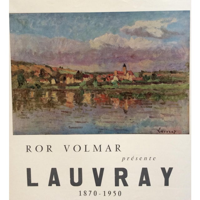 Original Mid-Century French ''Lauvray'' Exhibition Poster For Sale - Image 4 of 5